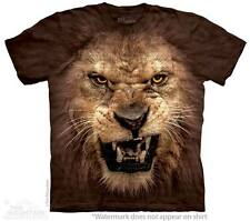 Big Face Roaring Lion The Mountain Adult & Child Size T-Shirts