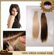 "40pcs/100g 100% Tape in Human Hair Extensions Fashion Remy Hair Piece 12"" to 26"""
