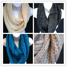 (11colors ) New Fashion Ladies hand knit crochet Infinity Scarf Holiday Sale