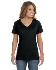 Anvil T-Shirt Top Tee Ladies' 3.2 oz. Sheer V-Neck Solid Blank 392A NEW