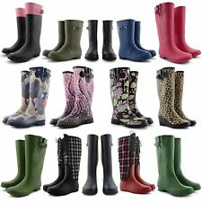 NEW LADIES WATERPROOF WELLIES RAIN SNOW FESTIVAL WELLINGTON WINTER SNOW BOOTS