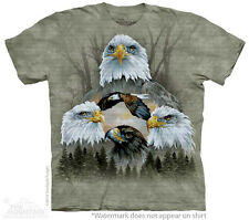 Five Eagle Collage The Mountain Adult Size T-Shirts