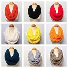 Two Knit Pattern 9 Color Infinity Scarf