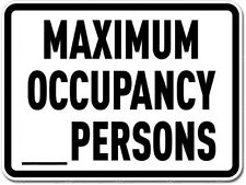 Maximum Occupancy Blank Sign Vinyl Sticker (bumper, phone, window, xbox, ps4)