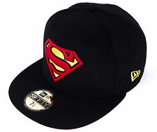 New Era Cap 59Fifty DC Comics Superman Basic Badge Black Superheroes Fitted