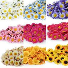 100x Artificial Gerbera Daisy Silk Flowers Heads Wedding Party Home Decor DIY