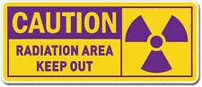 Caution Radiation Area Keep Clear Vinyl Sticker(phone, bumper, glass, xbox, ps4)