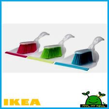 Ikea Dust Pan and Brush Yellow Blue Green New