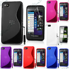 ETUI HOUSSES COQUE TPU SILICONE GEL S-LINE FILMS PROTECTION BLACKBERRY Z10 Z 10