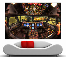 Wall Art Airplane Cockpit Canvas Print Picture Prints Home Decor 2