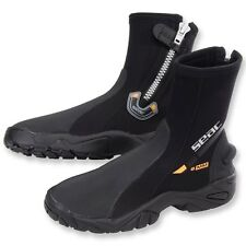 Seac 6mm Super-Stretch Zippered Hard Sole Dive Boots Booties