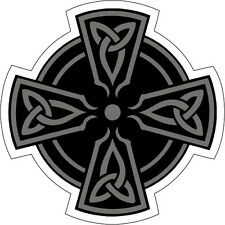 Celtic Cross Black Irish Origin Vinyl Sticker (window, phone, bumper, xbox, ps4)