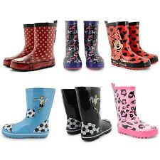 NEW BOYS GIRLS CASUAL COMFORT RAINY BOOTS WINTER SNOW FUNKY FASHION WELLIES SIZE