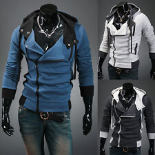 PJ Korean Men's Fashion Slim Fit Hooded Jackets Coats Hoodies 4 Size S~XL