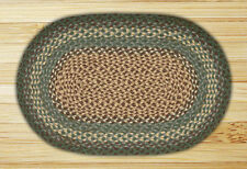 Capitol Earth Rugs - Braided Oval Dark Green Primitive Rug - New C-13