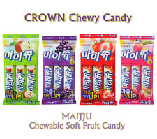 CROWN Chewable Soft Fruit Candy Apple Grape Strawberry Korean Food Snack ramen