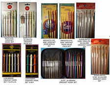 NEW BOYE CROCHET HOOK SET  *Your Choice Size *  ALUMINUM or STEEL  3, 5 OR 6 pcs
