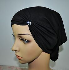 Useful Slip on Cotton Lycra Under Scarf hijab Tube Swarovski Turban Multicolor