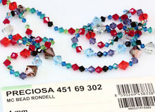 Genuine PRECIOSA Czech Crystal Rondell Bicone Beads * All Colors & Sizes