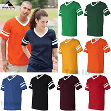 Augusta Sportswear  V-Neck Jersey with Striped Sleeves Mens S M L XL 2XL 360