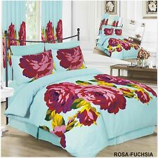 Reversible Duvet Quilt Cover with Pillowcases Bedding Set All Sizes Free Uk Post