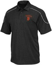San Francisco Giants Majestic The Run Down Synthetic Polo Shirt Big & Tall Sizes