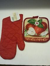Potholders Oven Mitt Dish cloth or Kitchen Towels Fat Chef Apples Rooster Zebra