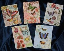 PUNCH STUDIO Butterflies Collection - CHOICE of Assorted BLANK NOTE CARDS -