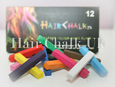 HAIR CHALK UK -12 Piece Sets of Hair Chalk, Hair Pastels, Hair Colour, Salon Kit