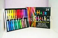 HAIR CHALK UK -24 Piece Sets of Hair Chalk, Hair Pastels, Hair Colour, Salon Kit