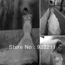 2014 Newest Style Tulle With Applique Mermaid Bridal Wedding Dress