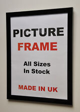 Black Picture frame 20mm wide, All Sizes|Picture Frames|Photo frames|Made in UK