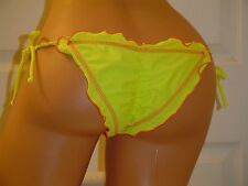 Ritchie Swimwear Yellow Sexy Skimpy Brazilian Scrunch Bikini BOTTOM