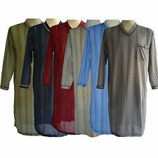 mens nightshirt cotton long sleeve pyjamas nightwear loungwear nighties