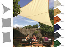 Water Resistant Woven Shade Sail Sun Protection Garden Yard Colors Sizes Shapes