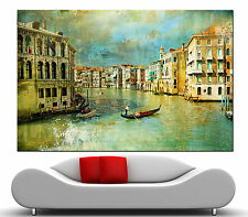 Wall Art Canvas Prints Fine Vintage Italy Old Venice Picture Print Colorful 2