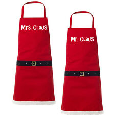 Santa Mr and Mrs Claus Aprons Novelty Christmas Gift Present Idea under £15