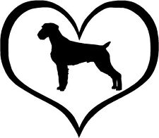 """Wire Haired Pointer Dog Heart 4.3"""" x 3.75"""" - Choose Color - Decal Sticker #1466"""