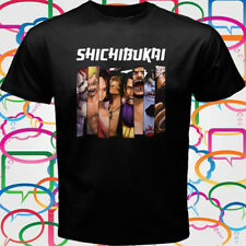 New One Piece *Shichibukai Anime Manga Men's Black T-Shirt Size S-3XL