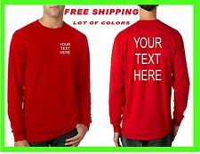 BUY YOUR LONG SLEEVE T Shirt Custom Personalized Put Your TEXT SPORTS, Camisetas