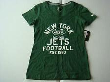 New York Jets NIKE Womens V Neck Shirt Sexy Top Vintage Distressed S M L XL