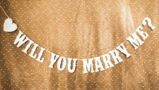 """WILL YOU MARRY ME?"" Banner Party Decoration Bunting Garland Western Handmade"