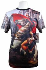 New Mens Akademiks Sublimation All Over Print S/S Shirt Napoleon Horse M-2XL