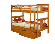 TWIN MISSION BUNK BED HONEY bunkbeds beds!!!