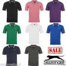 BRAND NEW MENS GENTS SLAZENGER PLAIN SHORT SLEEVE CASUAL POLO T SHIRT TOP SIZE