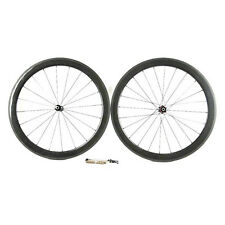Carbon Fiber Road Bike Wheelset 60mm Tubular Rim Shimano/Sram 9/10/11 Speed