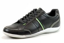 Hugo Boss Men's Gilmour Star 50261721 Fashion Sneakers Black Leather Shoes