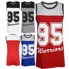 Womens Ladies 95 Warrior Mesh Oversized Baggy Sleeveless Sports T Shirt Vest Top