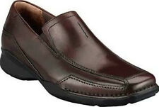 CLARKS CANDIDO MENS BROWN LEATHER SLIP ONS STYLE #82227
