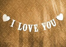 I LOVE YOU Banner Party Decoration Bunting Garland Western Handmade